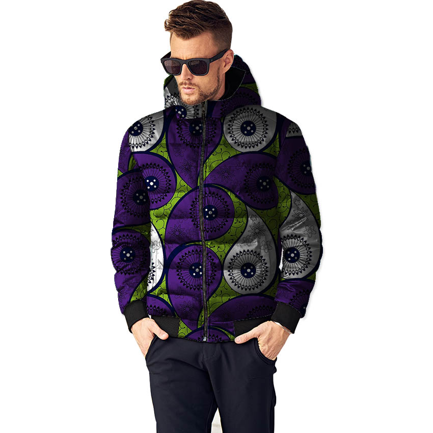 African Print Men Winter Jacket Mans Jackets And Coats Dashiki Thick Warm Jacket Parka Outerwear Coat African Clothing For Men