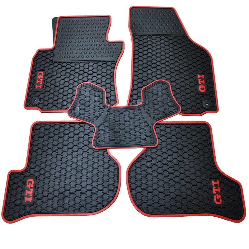 special rubber pads wear waterproof full car floor mats for VW Golf