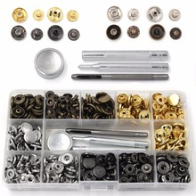 Studs Jeans-Press Snaps-Button-Kit Snap-Fasteners 4-Colors Fixing-Tools with 4pieces