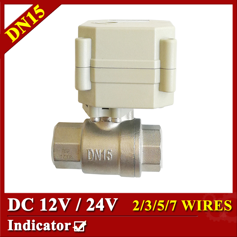Tsai Fan Electric ball valve 1/2 DC12V/24V 2/3/5/7 wires SS304 valve DN15 Motorized ball valve for IC card water meters 1 2 mini electric actuator valve 2 wires cr01 dc12v motorized ball valve ss304 dn15 electric valve for water control