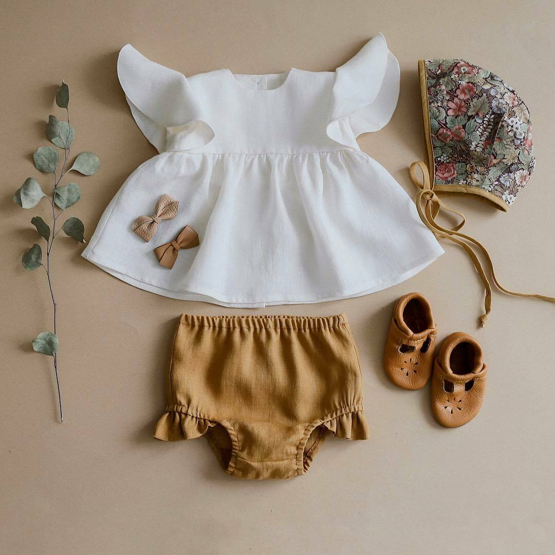 cfd9eecf0d3c5 2PCS Newborn Baby Girls Striped Tops Dress Shorts Pants Briefs Outfits  Clothes Summer Outfit Sleeveless Strap