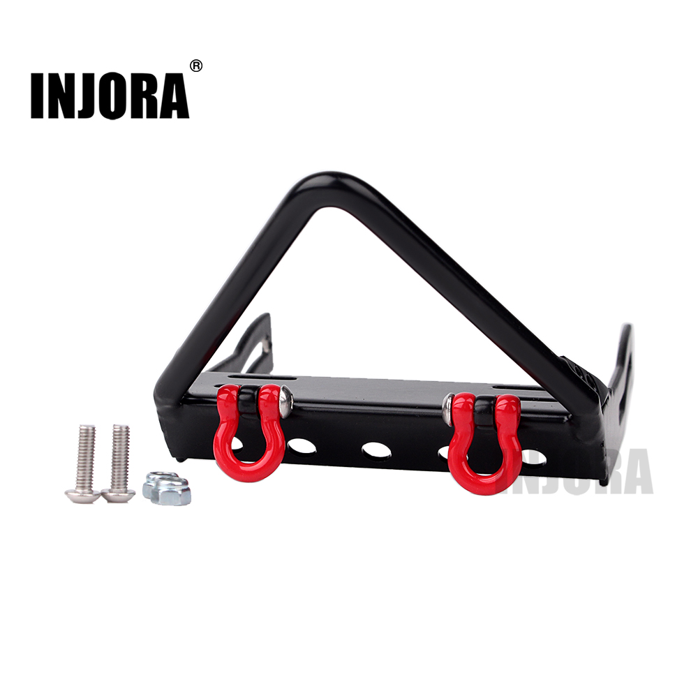 INJORA Metal Front Bumper for 1/10 RC Crawler Axial SCX10 injora 2pcs 90mm metal shock absorber for 1 10 rc crawler axial scx10 rc4wd d90 tamiya cc01