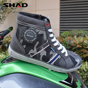 Image 3 - SHAD Fashion Casual Wear Motorbike Riding Shoes Motorcycle Boots Street Racing Boots Breathable Biker Boots