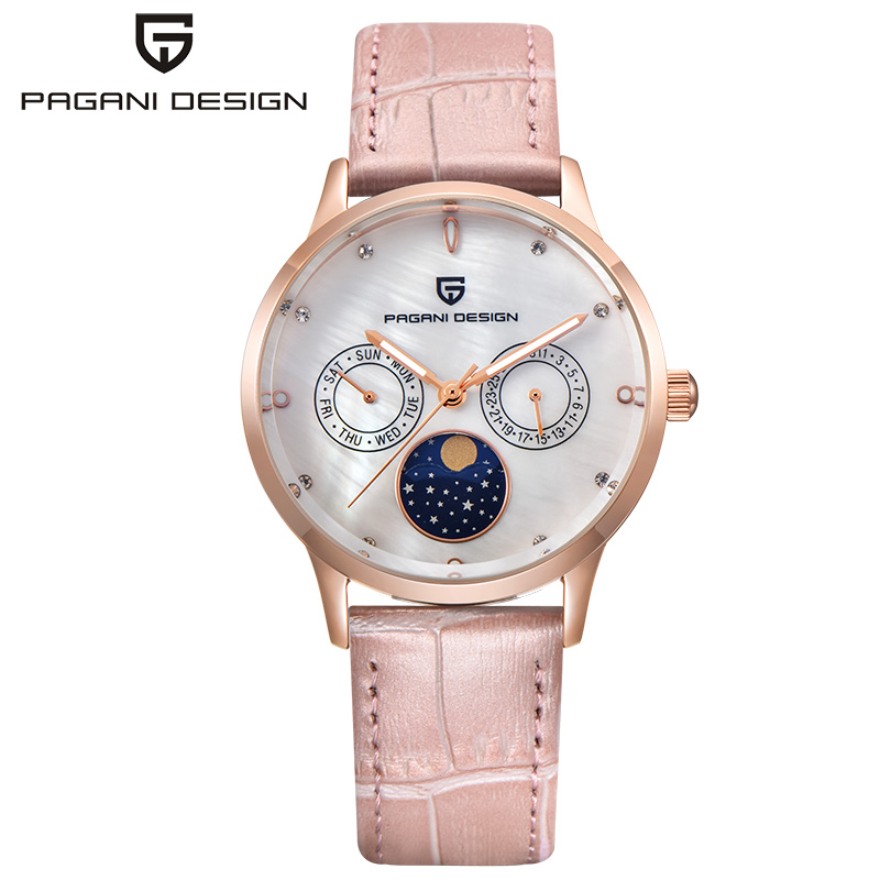 Pagani Design luxe Top marque Double calendrier affaires montre-bracelet mode Date or Rose montres femmes horloge relogio feminino