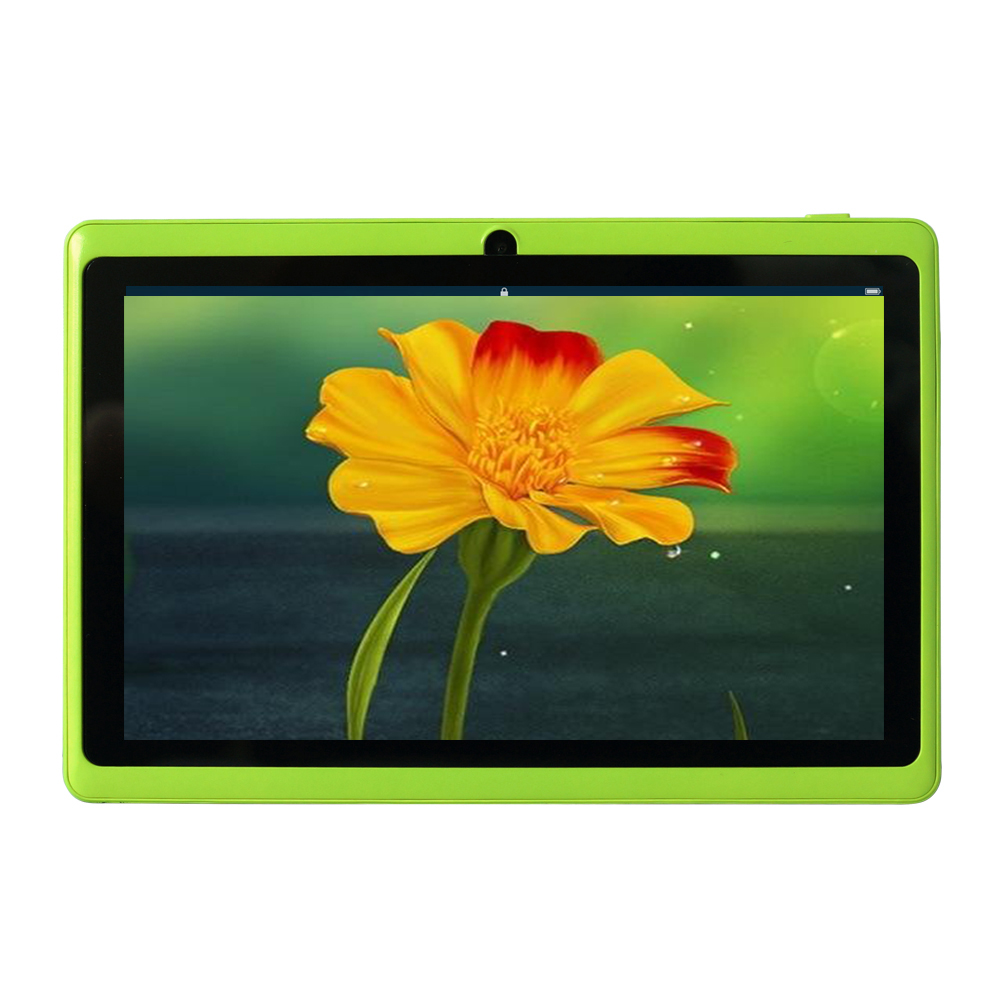 Yuntab 7 Tablet Allwinner A33 Q88 tablet Quad Core Android 4.4 8GB Dual Cam OTG WIFI Google APP Play Green Color цена