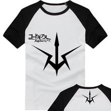 Free Shipping Cartoon Code Geass T Shirts Lelouch Vi Britannia Unisex Cotton Cosplay T-shirt Costumes