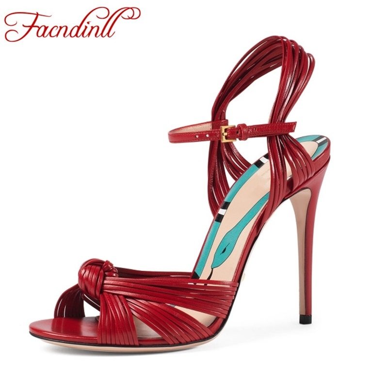 FACNDINLL gladiator women sandals shoes thin high heels peep toe shoes woman summer fashion dress party wedding shoes size 34-43 2017 new sexy thin high heels peep toe shoes woman sandals genuine leather women silver party wedding gladiator summer sandals