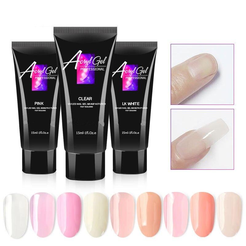 1 шт., прозрачный УФ-гель для наращивания ногтей, светодиодный Гель-лак для дизайна ногтей, гелевый акриловый УФ-гель для наращивания ногтей