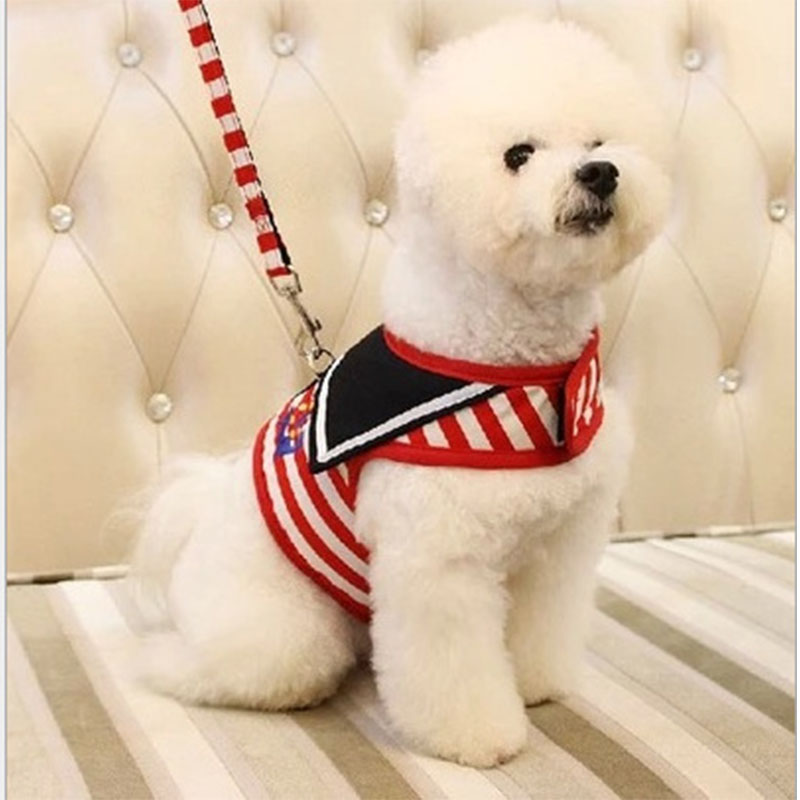 1 pcs Creative Comfortable Navy Style Chest Strap Dog Chain Harness Reflective Pet Vest Rope Small Dog Accessories Hot Sale ...
