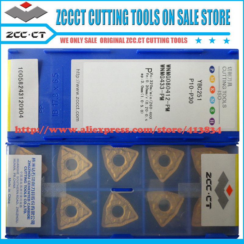 10pcs lot WNMG080412 PM WNMG080412 WNMG08 ZCC CT WNMG 080412 PM ZCCCT cemented carbide turning insert