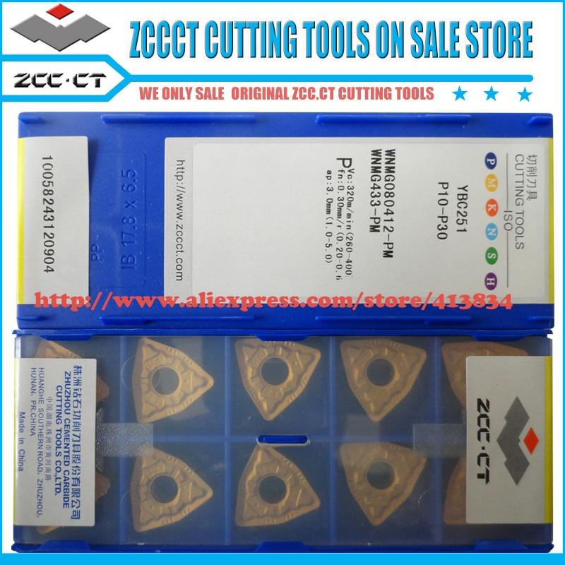 10pcs lot WNMG080412 PM WNMG080412 WNMG08 ZCC CT WNMG 080412 PM ZCCCT cemented carbide turning insert