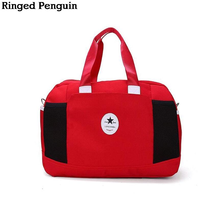 185412d2899 Geringde Penguin Dames Reistas Nylon Grote Capaciteit Bagage Weekend ...