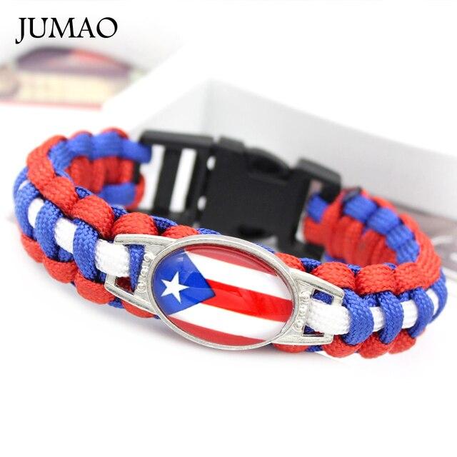 c4c63e805e5c Puerto Rico Brasil Cuba Italia México Portugal Jamaica bandera de Panamá  Paracord supervivencia pulseras amistad regalo