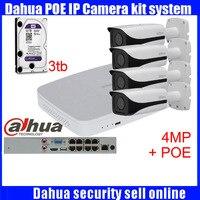 Dahua 8pcs 4MP POE IP Camera DH IPC HFW4421E System Security Camera Outdoor 8CH 1080P NVR4108