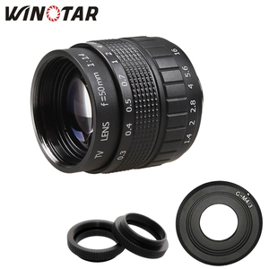Image 1 - 50mm F1.4 CCTV TV Film lens + C Dağı + Makro halka için Panasonic Mikro 4/3 m4/3 g7 G6 G5 G10 G3 GX7 GM5 GH3 GH2 GH1 GX1 GF6 GH4 GF3