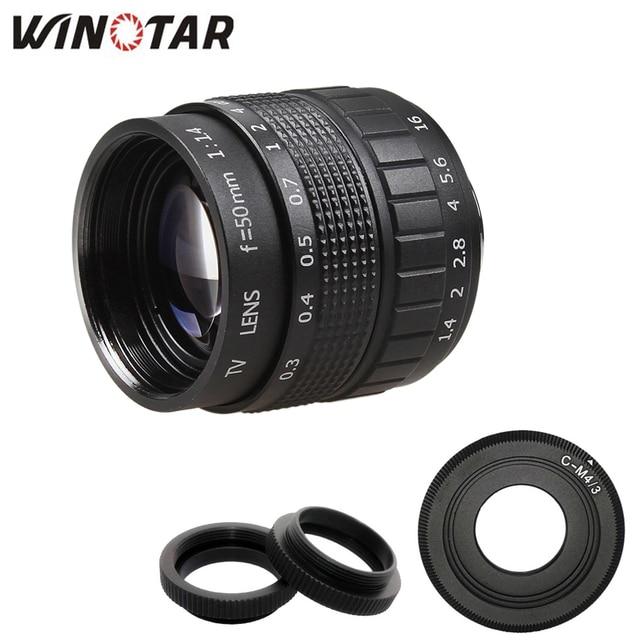 50mm F1.4 CCTV TV Film lens + C Dağı + Makro halka için Panasonic Mikro 4/3 m4/3 g7 G6 G5 G10 G3 GX7 GM5 GH3 GH2 GH1 GX1 GF6 GH4 GF3