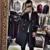 Hot preto azul ocasional double breasted casaco de lã dos homens 2017 moda trench coats mens jaquetas de lã sobretudos dress inverno s-xxl