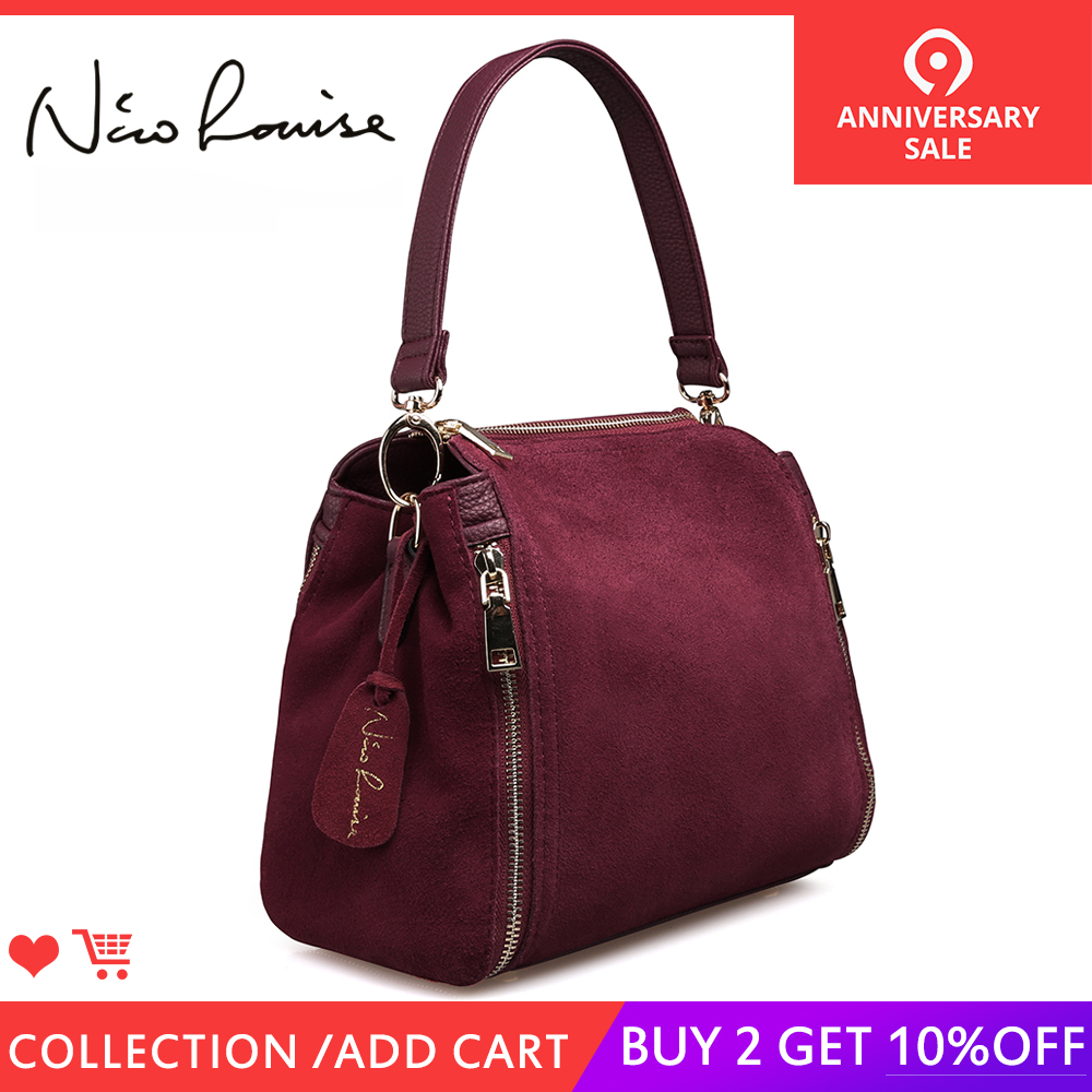 6950afa8a44a Новое поступление Женская замшевая кожаная сумка-мешок модная женская сумка  через плечо сумка-мессенджер