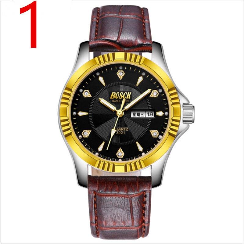 Top new men's business quartz watch, classic style, show noble temperament.