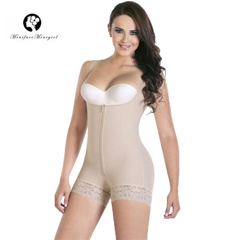 Minifaceminigirl Women's Firm Control Slimming Body Shaper Openbust Adjustable Strap Plus Size Shapewear Feminino Bodysuit