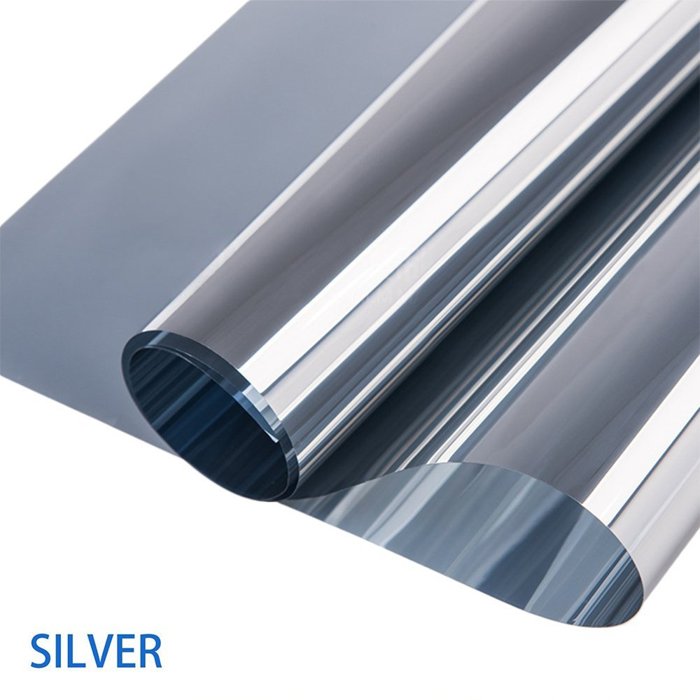 1.52x30m MIRROR SILVER 20% SOLAR REFLECTIVE WINDOW FILM ONE WAY PRIVACY TINT wholesale Sicker