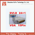Free Shippin+20pcs/lot+dvi to vga connector/24+1 Pin M DVI-D to 15 Pin VGA F Adapter  for HDTV