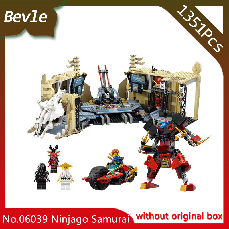 ФОТО Bevle Store LEPIN 06039 11767Pcs Ninja Series Samurai X Cave Chaos Assemble  Model Building  BlocksFor Children Toys 70596 Gift