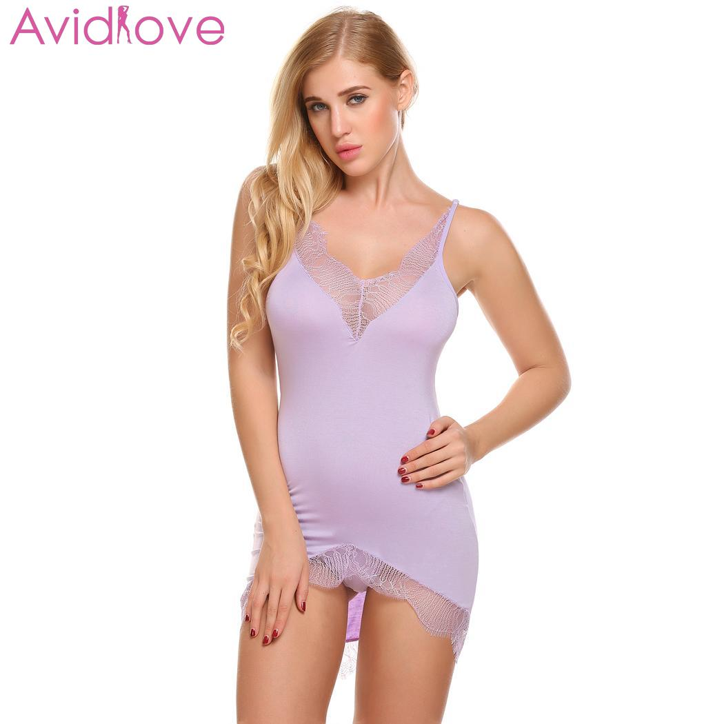 6a011b9ca38 Detail Feedback Questions about Avidlove Sexy Babydoll Nighties Nightwear  Trim Chemise Irregular Lace Sexy Lingerie Sleepwear Women Backless Nightgown  on ...