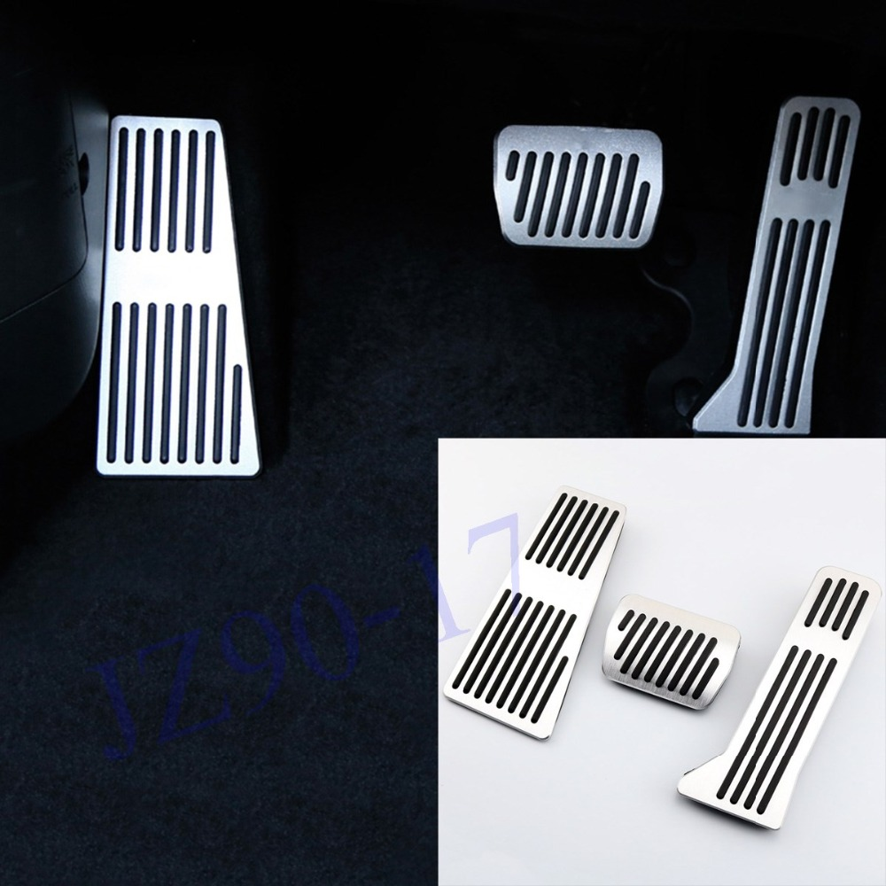 Aluminum alloy Car Styling Accelerator Gas Pedal Brake Pedal Cover For <font><b>Mazda</b></font> 2 3 6 CX3 CX-4 CX5 <font><b>CX9</b></font> <font><b>2014</b></font> 2015 2016 2017 Fitting image
