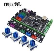 3D Parti Della Stampante Scheda di Controllo MKS Gen V1.0 Mega 2560 R3 scheda madre RepRap Ramps1.4 + A4988/TMC2130/TMC2208/DRV8825 Driver