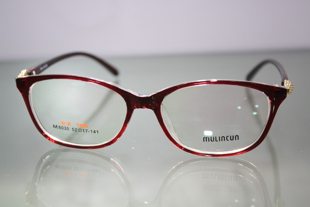 Custom Made Glasses Minus Shortsighted Red Large F...
