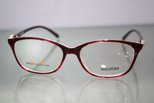 Custom Made Óculos Menos Míope Red Óculos de Leitura Grande Quadro Briller-1-1.5-2-2.5-3-3.5-4-4.5-5-5.5-6