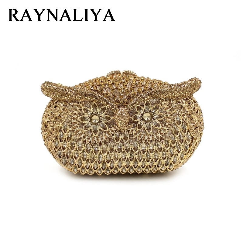 цены на New Crystal Owl Clutches Women Cute Bird Animal Beading Minaudiere Fashion Clutch Diamonds Evening Party Bags ZH-B0220 в интернет-магазинах
