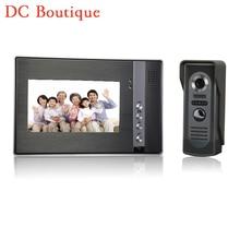 (1 set) Smart Home Intercom system 7 inch one to one Door phone Video intercom Door bell talkback system access control release