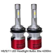 Turbo H8 H9 H11 Headlight LED Car Headlights 60w 8400lm 6500k Auto Bulbs Fog Lamp H1 H3 H4 H7 HB3 9005 HB4 9006 880 H27