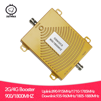 ZQTMAX LTE 2g 4g Cellular Amplifier gsm dcs signal booster 900 1800 Cell Phone Signal Repeater B3 B8 dual band
