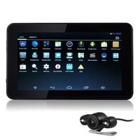 Udricare 7 Inch Android GPS Navigation Car Tablet GPS Navigation Rear View Camera 16GB Allwinner A33