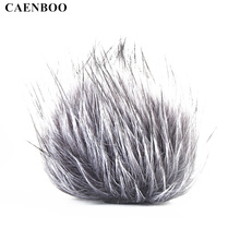 CAENBOO For ZOOM H5 H6 Microphone Windshield Wind Proof Cover Voice Recording Pen Furry Fur Windscreen Muff Mic Professional