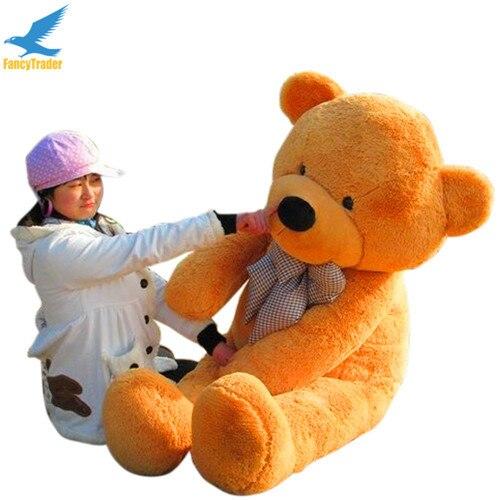 Fancytrader 63 дюйма розовый цвет гигантский плюшевый набивная плюшевая игрушка медведь 160 см 4 цвета FT90059