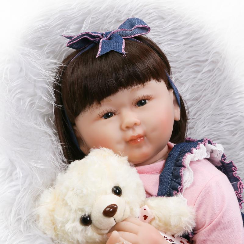 55cm Limited Collection Chinese Girl Face Lifelike Newborn Baby with Black Short Hair Silicone Reborn Baby Doll55cm Limited Collection Chinese Girl Face Lifelike Newborn Baby with Black Short Hair Silicone Reborn Baby Doll