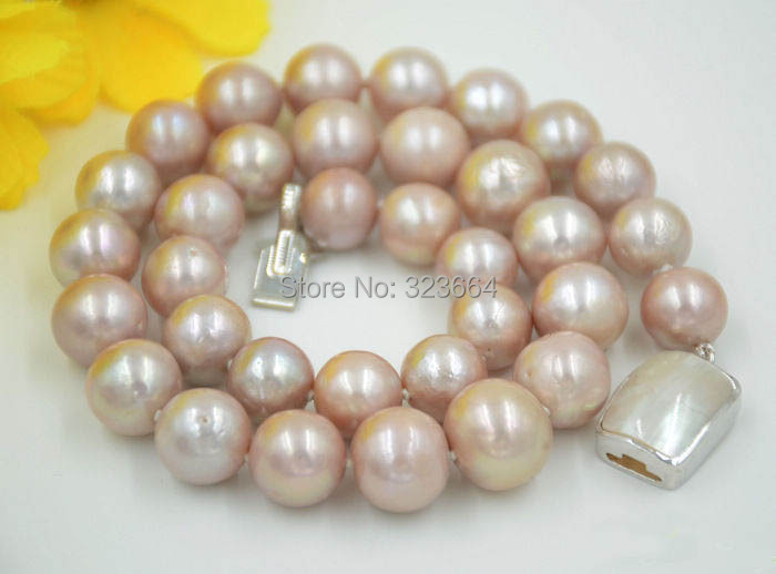 AA++ 17 13mm ROUND LAVENDER Edison Freshwater cultured PEARL NECKLACE AA++ 17 13mm ROUND LAVENDER Edison Freshwater cultured PEARL NECKLACE
