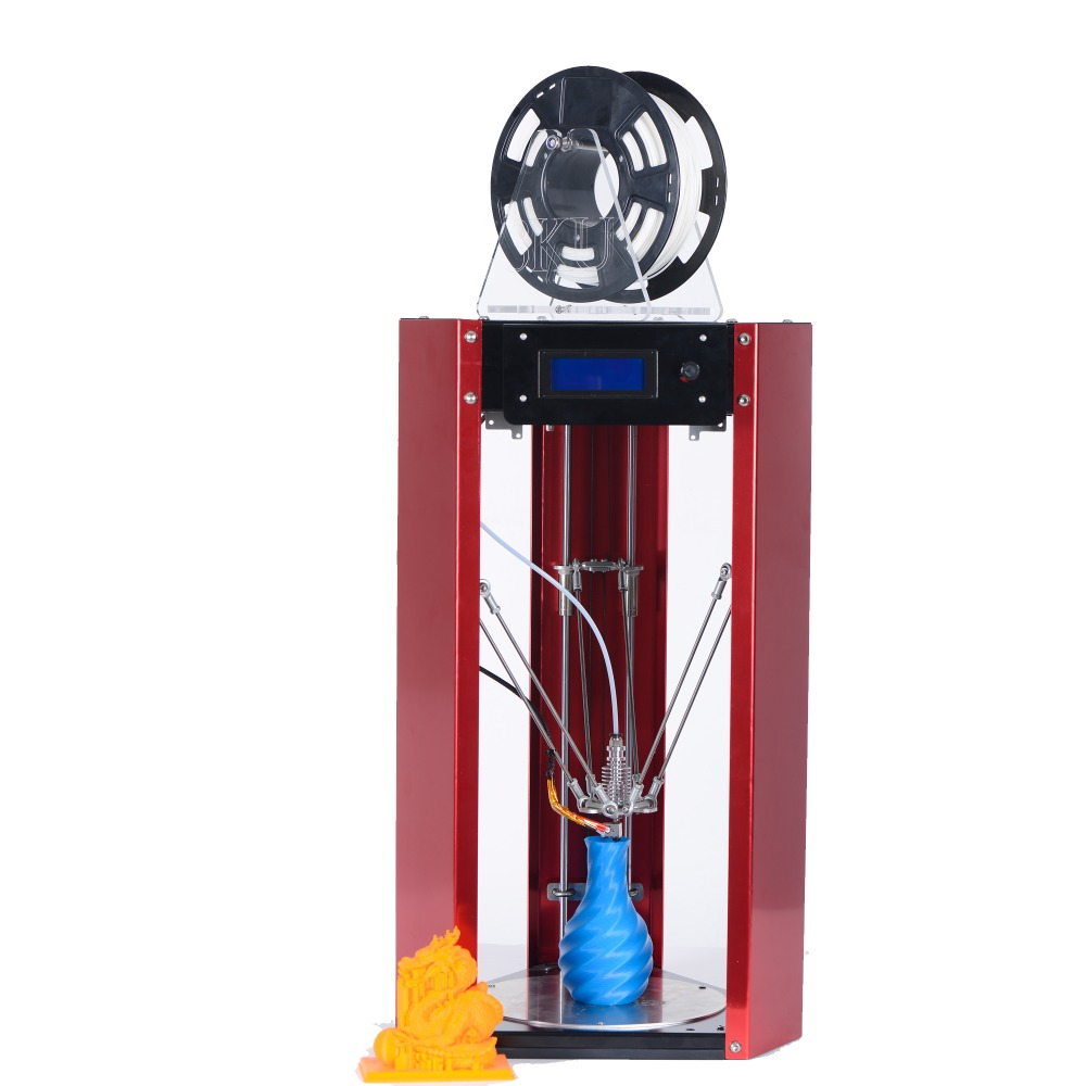 3KU Updated Metal Structure Delta  3D Printer kits with Guard Metal Plate free PLA SD card Filament holder