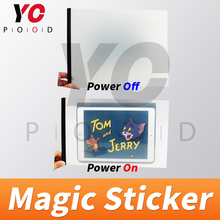 Magic sticker Prop Real life  YOPOOD escape room Players power on the amazing sticker to see hidden clues Chamber takagism game room escape game prop popular morse code prop button version input right password pattern via button to unlock get out chamber
