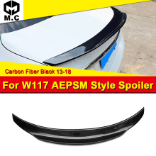 For Mercedes Benz Cla Class W117 Carbon Fiber PSM boot trunk wing spoiler CLA180 CLA200 CLA250 CLA45 Look wing spoiler 2013-2018 недорого