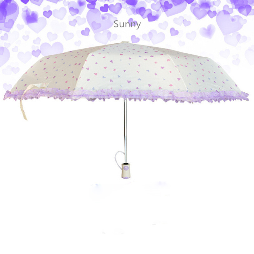 Sunny květ krajkový deštník hliníková slitina lehký - Výrobky pro domácnost - Fotografie 2