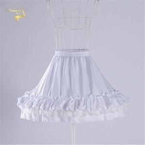 Image 4 - Czarna moda biała suknia balowa podkoszulek huśtawka na krótką sukienkę halka Lolita baletowa spódniczka tutu spódnica Rockabilly krynolina