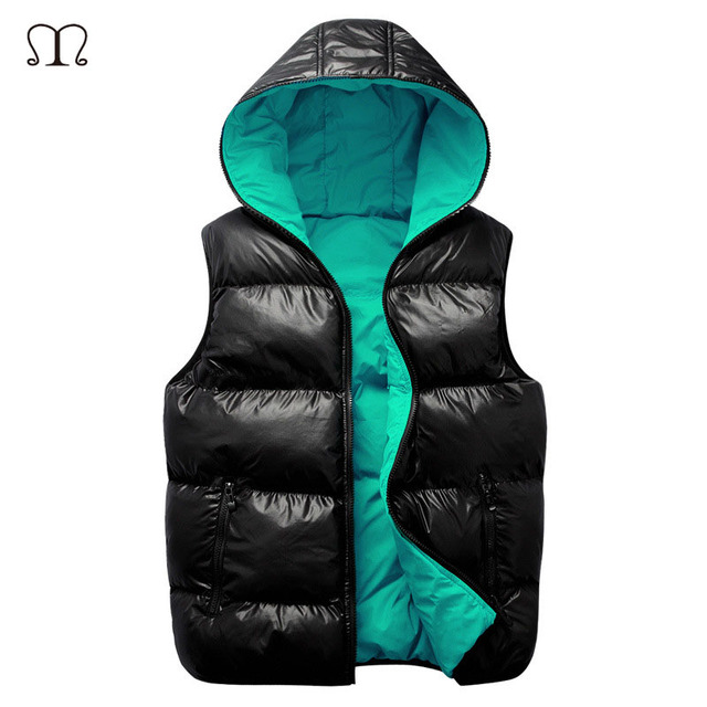 New Mens Winter Jacket Sleeveless veste homme Fashion Warm Coats Male Hooded Cotton-Padded Men's Vest men Thickening Waistcoat