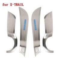 Stainless steel car door anti kick mat side door anti kick board For NISSAN X TRAIL T32 XTRAIL 2014 2018 Car styling