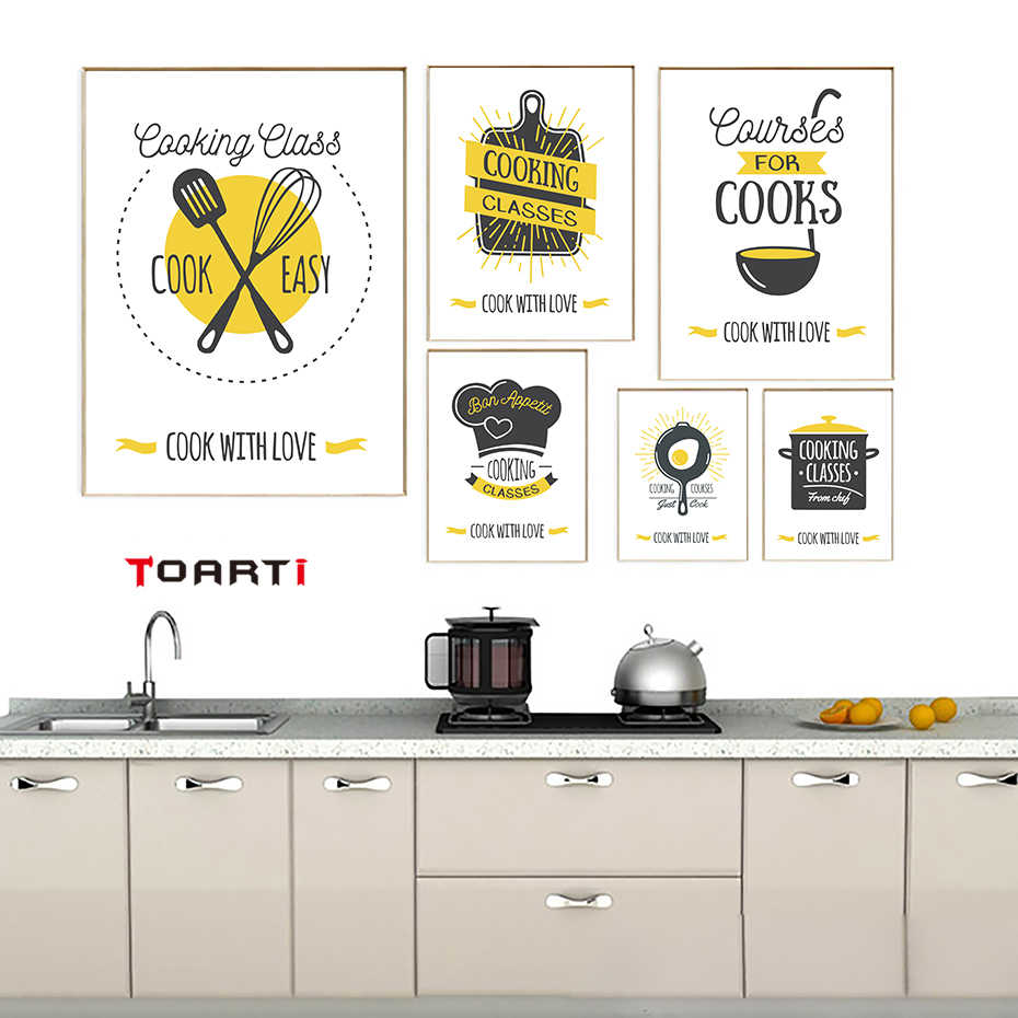 Modern Life Quote Canvas Art Painting Cooking Supplies Poster And Print Wall Picture Kitchen Restaurant Modular Home Decor Mural