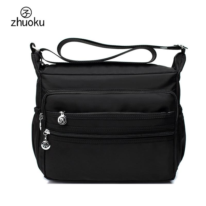 New Listing Women Messenger Bags Waterproof Nylon Shoulder Bag Female Multilayer Zip Pocket Mother's Gift Free Shipping Z419